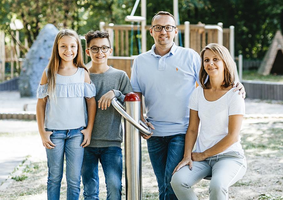 Jochen Kassel mit seiner Familie